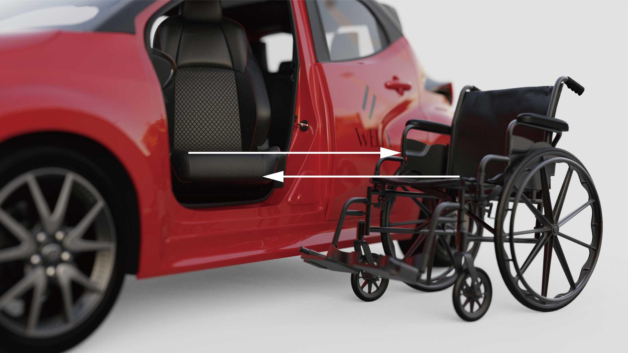 ウェルブー広島 車椅子からシートへ移乗